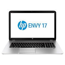 "Buy HP Envy 17-j141na Laptop, Intel Core i7, 12GB RAM, 1TB, 17.3"", Silver Online at johnlewis.com"
