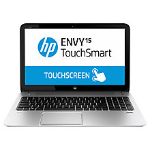 "Buy HP Envy TouchSmart 15-j132na Laptop, Intel Core i7, 8GB RAM, 1TB+8GB SSD, 15.6"" Touch Screen, Silver Online at johnlewis.com"