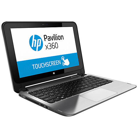 "Buy HP Pavilion x360 13-a000na Convertible Laptop, Intel Core i3, 4GB RAM, 1TB, 13.3"" Touch Screen, Silver Online at johnlewis.com"
