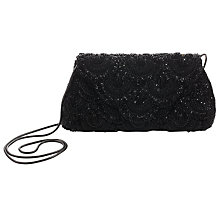 Buy John Lewis Daisy Scallop Beaded Bag, Black Online at johnlewis.com