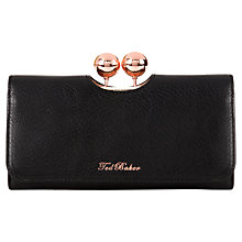Buy Ted Baker Bobble Matinee Leather Purse, Black Online at johnlewis.com