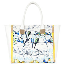 Buy Ted Baker Canary Print Crosshatch Shopper Bag Online at johnlewis.com
