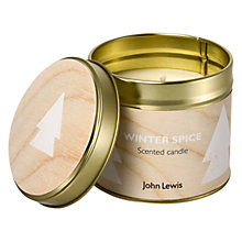 Buy John Lewis Winter Spice Tin Candle Online at johnlewis.com