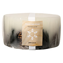 Buy John Lewis Frosted Pine Inclusion 3 Wick Candle Online at johnlewis.com