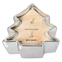 Buy John Lewis Frosted Pine Tree Votive Online at johnlewis.com