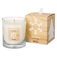 Buy John Lewis Frosted Pine Candle in a Box Online at johnlewis.com