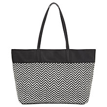 Buy Whistles Rachelle Woven Leather Shopper Bag, Black Online at johnlewis.com