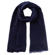 Buy Jigsaw Beaded Pashmina, Navy Online at johnlewis.com