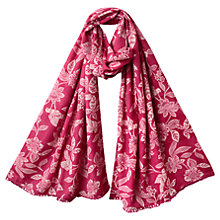 Buy East Mahika Print Scarf, Raspberry Online at johnlewis.com