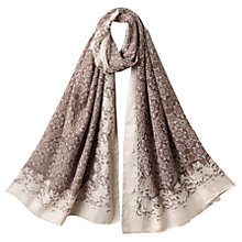 Buy East Floral Garden Print Scarf, Stone Online at johnlewis.com