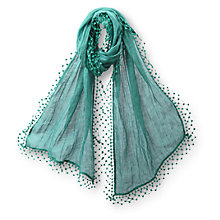 Buy East Linen Pompom Scarf Online at johnlewis.com