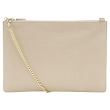 Buy Whistles Rivington Shiny Croc Leather Clutch Bag, Nude Online at johnlewis.com