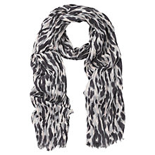 Buy Whistles Tyler Animal Print Scarf, Pink Online at johnlewis.com