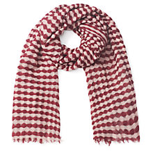 Buy Jigsaw Woven Stripe Scarf, Camel Online at johnlewis.com