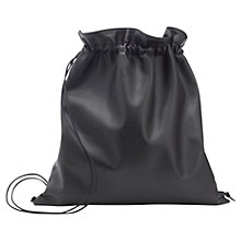 Buy Whistles Trinity Drawstring Bag, Black Online at johnlewis.com