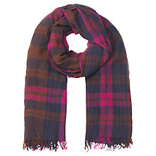 Buy Jigsaw Paris Check Scarf, Navy Online at johnlewis.com