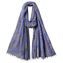 Buy East Anohki Pemba Scarf, Lavender Online at johnlewis.com
