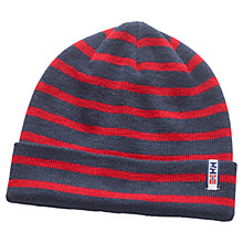Buy Helly Hansen Striped Skagen Beanie Hat, One Size, Evening Red/Blue Online at johnlewis.com