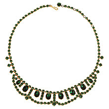 Buy Alice Joseph Vintage 1950s Diamante Collar Necklace, Green Online at johnlewis.com