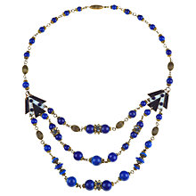 Buy Alice Joseph Vintage 1930s Bohemian Lapiz Lazuli Beaded Necklace, Blue Online at johnlewis.com