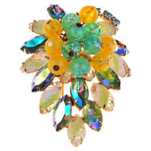 Buy Alice Joseph Vintage 1950s American Glass Art Cluster Brooch, Green / Yellow Online at johnlewis.com