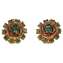 Buy Alice Joseph Vintage Diamante Rose Clip-On Earrings, Green Online at johnlewis.com
