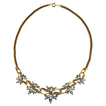 Buy Alice Joseph Vintage 1980's Trifari Diamante Flower Necklace, White Online at johnlewis.com