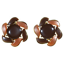 Buy Alice Joseph Vintage 1950s Lisner American Thermoplastic Clip-On Earrings, Brown Online at johnlewis.com