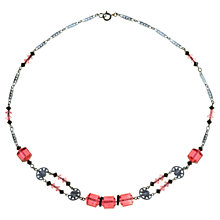 Buy Alice Joseph Vintage 1930s Art Deco Beaded Necklace, Pink / Black Online at johnlewis.com