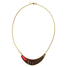 Buy Alice Joseph Vintage Monet Enamel Gold Plated Necklace, Red Online at johnlewis.com