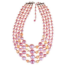Buy Alice Joseph Vintage 1960s Japanese Four Row Beaded Necklace, Lilac Online at johnlewis.com