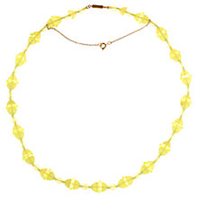 Buy Alice Joseph Vintage 1920s Glass Beaded Necklace, Lemon Online at johnlewis.com