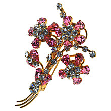 Buy Alice Joseph Vintage 1950s Gilt Plated Diamante Spray Brooch, Pink Online at johnlewis.com