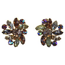 Buy Alice Joseph Vintage Sherman Topaz Diamante Clip-On Earrings, Blue Online at johnlewis.com