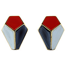Buy Alice Joseph Vintage 1980s Trifari Enamel Clip-On Earrings, Multi Online at johnlewis.com