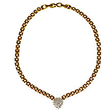 Buy Alice Joseph Vintage 1980s D'Orlan White Diamante Adjustable Collar Necklace, Gold Online at johnlewis.com