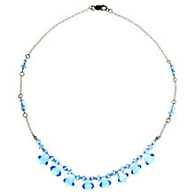 Buy Alice Joseph Vintage 1930's Art Deco Glass Beaded Necklace, Blue Online at johnlewis.com