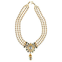 Buy Alice Joseph Vintage 1980s Trifari Pearl And Diamante Necklace, White Online at johnlewis.com