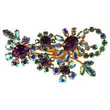 Buy Alice Joseph Vintage 1950s Amy Aurora Borealis Diamante Spray Brooch, Ameythst Online at johnlewis.com