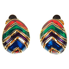 Buy Alice Joseph Vintage 1980s Multi-Coloured Enamel Clip-On Earrings, Multi Online at johnlewis.com