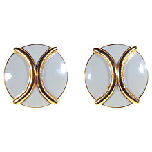 Buy Alice Joseph Vintage 1980s Monet Enamel Clip-On Earrings, Cream Online at johnlewis.com