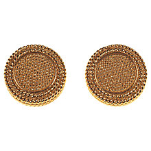 Buy Alice Joseph Vintage 1980s Sphinx Glit Plated Clip-On Earrings, Gold Online at johnlewis.com
