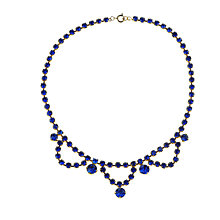 Buy Alice Joseph Vintage 1950s Gilt Plated Diamante Necklace, Blue Online at johnlewis.com