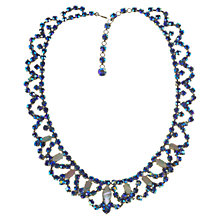 Buy Alice Joseph Vintage 1950s American Aurora Borealis Diamante And Mother Of Pearl Necklace, Blue Online at johnlewis.com