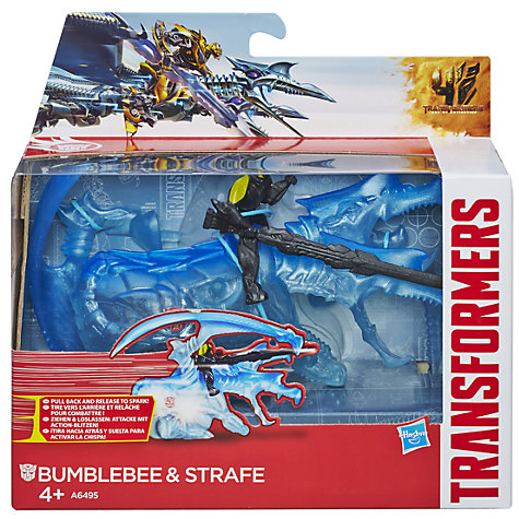 Buy Transformers 4: Age Of Extinction Bumblebee & Strafe Pull-Back Figures Online at johnlewis.com