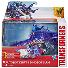 Buy Transformers 4: Age Of Extinction Autobot Slug & Dinobot Slug Pull-Back Figures Online at johnlewis.com