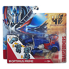 Buy Transformers 4: Age Of Extinction Optimus Prime One-Step Changer Figure Online at johnlewis.com