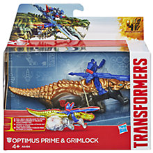 Buy Transformers 4: Age Of Extinction Optimus Prime & Grimlock Pull-Back Figures Online at johnlewis.com