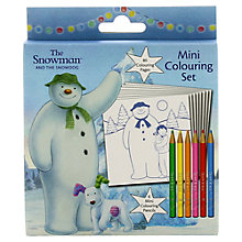 Buy The Snowman and The Snowdog Mini Colouring Set Online at johnlewis.com
