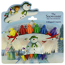 Buy The Snowman and The Snowdog Crayons and Paper Online at johnlewis.com